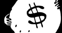 cartoon bag of money