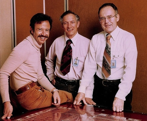 Andy Grove Robert Noyce Gordon Moore 1978, photo courtesy of Intel Free Press