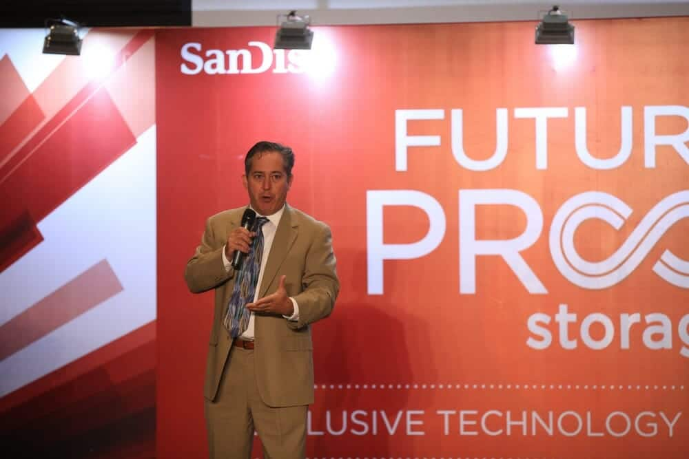 Bob O'Donnell, founder and chief analyst of TECHnalysis Research speaking at SanDisk's 2014 Future Proof Storage Summit.