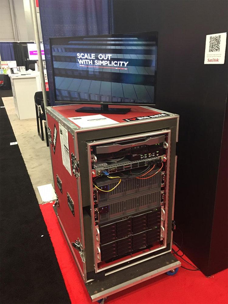 FIONA rack with 1PB flash storage (2 InfiniFlash units)