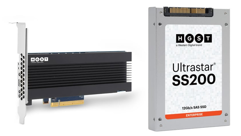 The HGST Ultrastar® SN260 NVMe Add-In Card (AIC), and the HGST Ultrastar SS200 12G SAS SSD