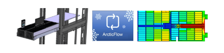 Arcticflow optimized to cooling in storage server platforms