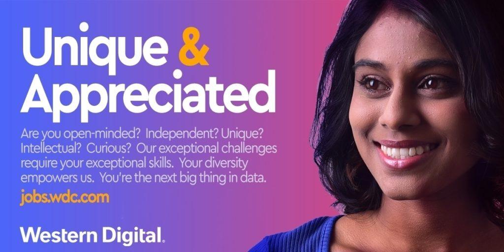 Western Digital employee appreciation ad