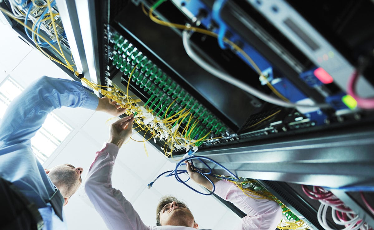 data infrastructure trends in a server room
