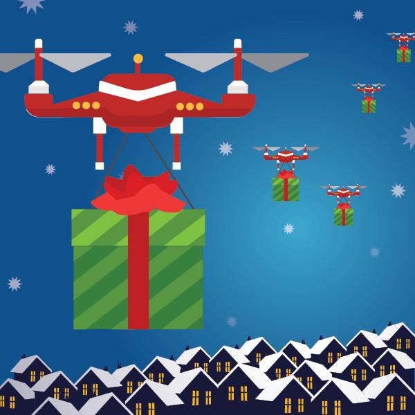 Santa Clause IoT data journey autonomous drones
