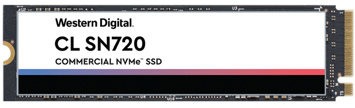 Western Digital CL SN720 NVMe SSD M.2 2280 form factor