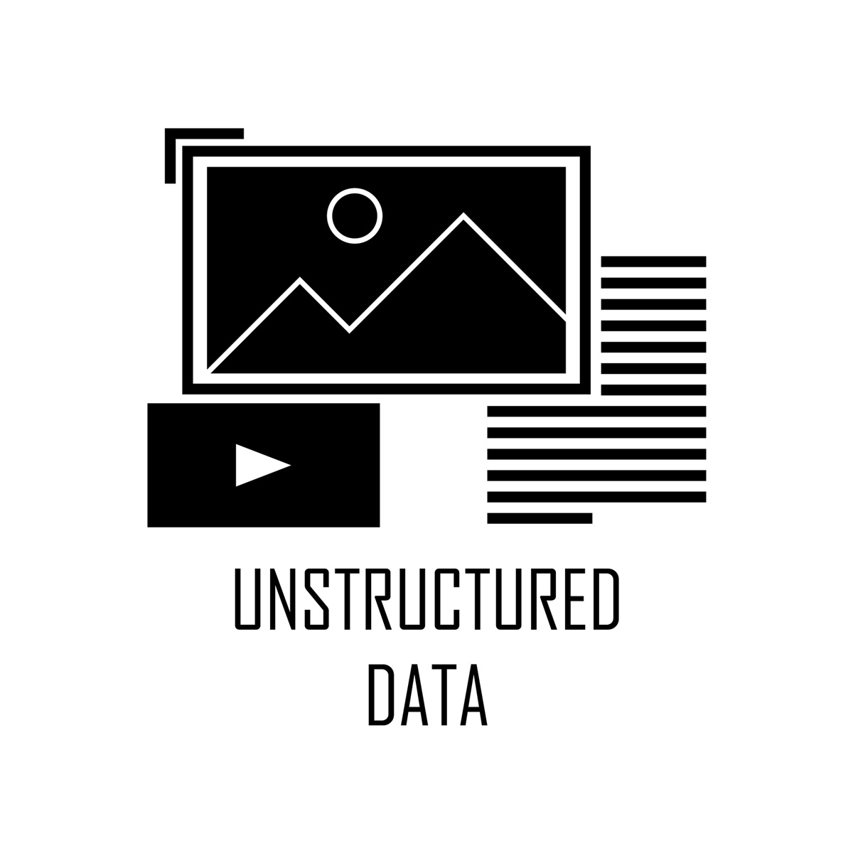 examples of unstructured data