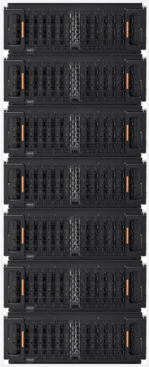 A rack of JBODs from Western Digital