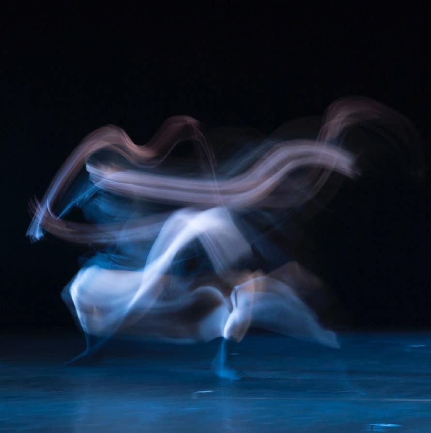 Image of blurred dancer
